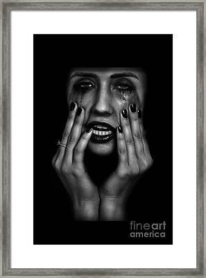 Crying Woman Framed Print by Aleksey Tugolukov