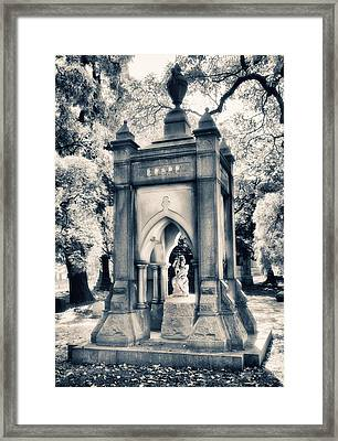Crypt At Woodlawn II Framed Print by Jessica Jenney