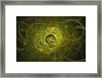 Cryptique-42 Brass Framed Print