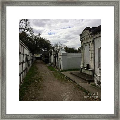 Crypts Framed Print by Kim Nelson