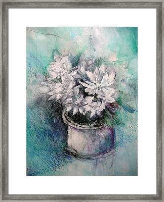 Framed Print featuring the painting Crysanthymums by Chris Hobel