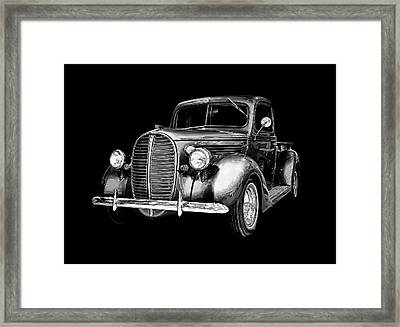 Framed Print featuring the photograph Crystal 38 Ford Pickup by Gary Smith
