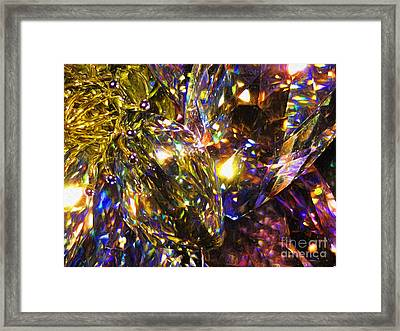 Crystal Abstract Framed Print