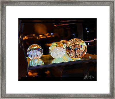 Crystal Balls Framed Print by Diana Haronis