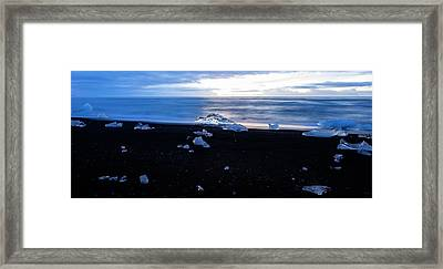 Framed Print featuring the photograph Crystal Beach Iceland by Brad Scott