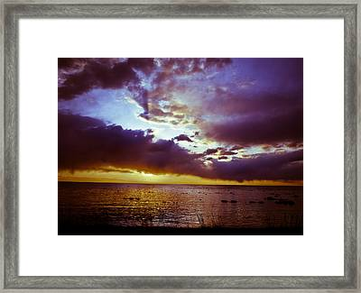 Crystal Beach Framed Print