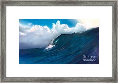 Crystal Beach Framed Print