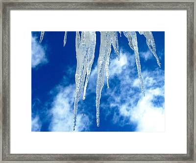 Crystal Blue Framed Print by Angela Davies
