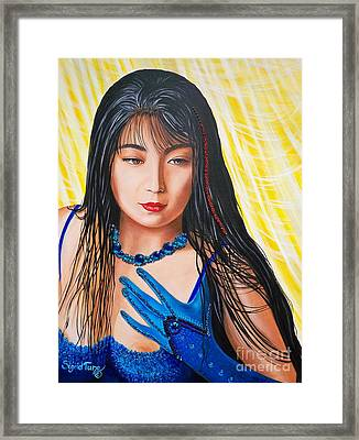 Crystal Blue China Girl            From   The Attitude Girls  Framed Print