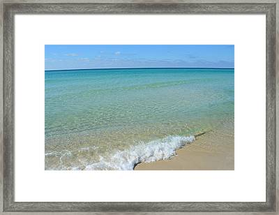Crystal Blue Surf 1 Framed Print by Tamra Lockard