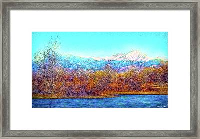 Crystal Blue Winter Day Framed Print