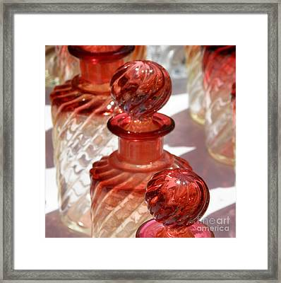 Crystal Bottles Framed Print by Lainie Wrightson