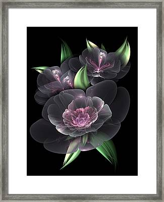 Crystal Bouquet Framed Print