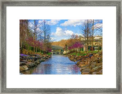 Crystal Bridges In Spring And Blue Skies Framed Print by Gregory Ballos