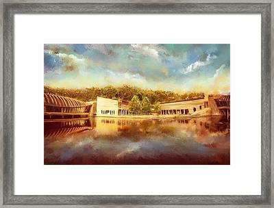 Crystal Bridges Museum Of American Art Framed Print by Lourry Legarde