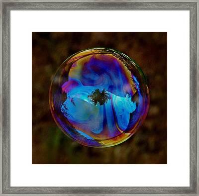Crystal Bubble Framed Print by Marilynne Bull