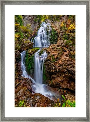 Crystal Cascade Autumn 2016 Framed Print by Bill Wakeley