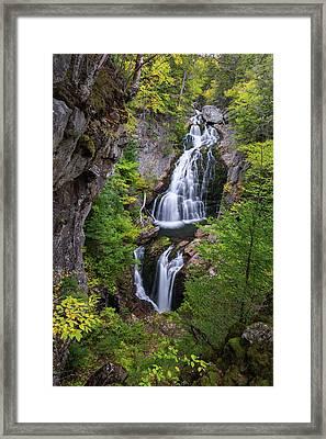 Crystal Cascade Autumn Framed Print by Bill Wakeley