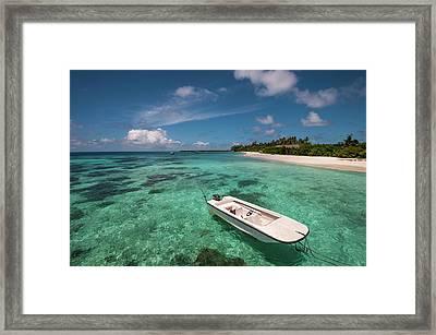 Crystal Clarity. Maldives Framed Print by Jenny Rainbow