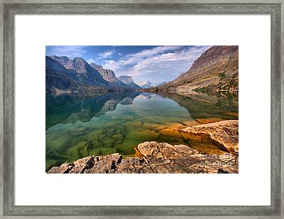 Crystal Clear Waters Of St. Mary Framed Print