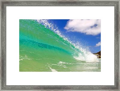 Crystal Clear Wave Framed Print by Paul Topp