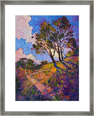 Framed Print featuring the painting Crystal Clouds by Erin Hanson
