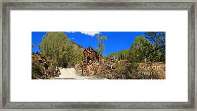 Crystal Colorado Historic Mill Framed Print by Adam Jewell