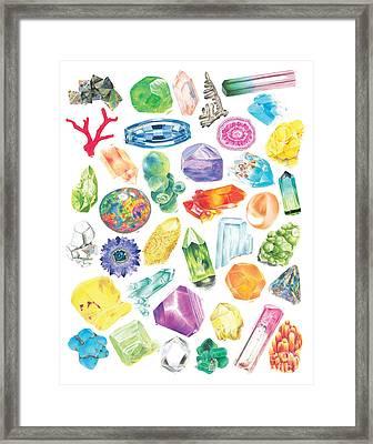 Crystal Confetti II Framed Print