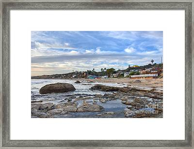 Crystal Cove Beach Cottages Framed Print