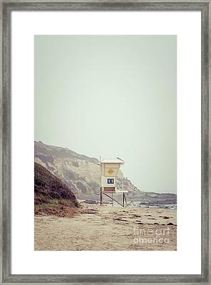 Crystal Cove Lifeguard Tower #11 Retro Picture Framed Print