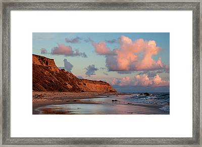 Crystal Cove Reflections Framed Print by Cliff Wassmann