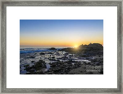 Framed Print featuring the photograph Crystal Cove Sunset by Anthony Baatz