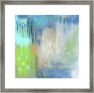 Framed Print featuring the painting Crystal Deep  by Michal Mitak Mahgerefteh