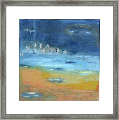 Framed Print featuring the painting Crystal Deep Waters by Michal Mitak Mahgerefteh