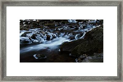 Crystal Flows In Hdr Framed Print