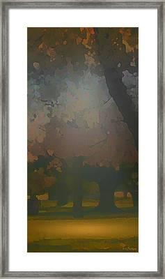 Crystal Forest Framed Print by Kat Besthorn