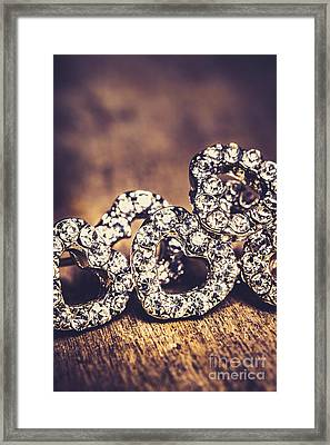 Crystal Heart Earrings Framed Print