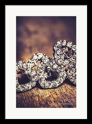 Diamond Earrings Framed Prints