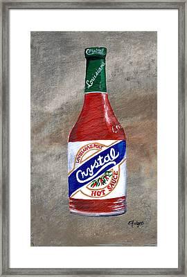 Crystal Hot Sauce Framed Print by Elaine Hodges