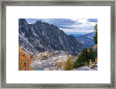Crystal Lake And Enchantment Pass Framed Print