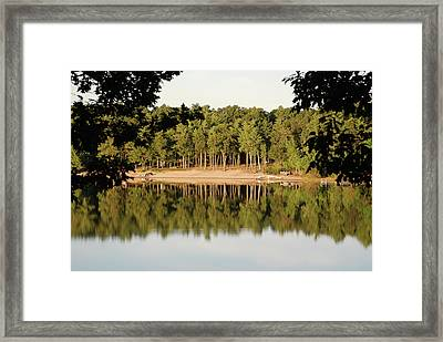 Framed Print featuring the photograph Crystal Lake In Whitehall Mi by Ferrel Cordle