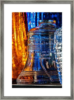 Crystal Liberty Bell Framed Print by Christopher Holmes