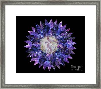 Crystal Magic Mandala Framed Print