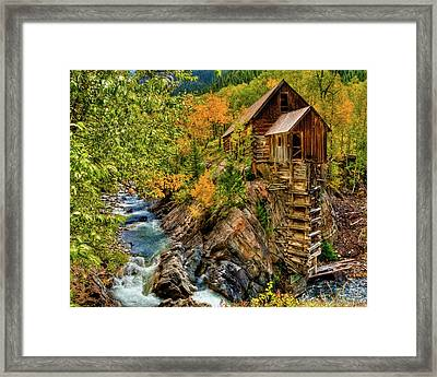 Crystal Mill Fall Colors Framed Print