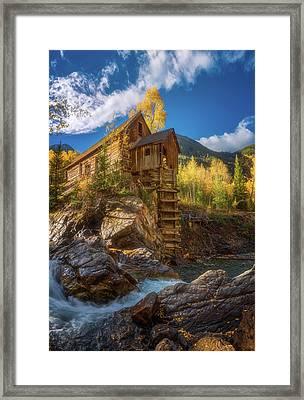 Crystal Mill Morning Framed Print