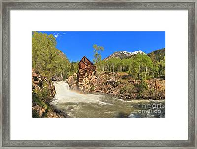 Crystal Mill Panorama Framed Print by Adam Jewell