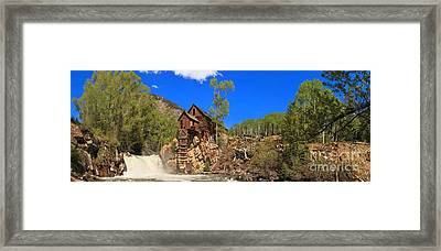 Crystal Mill Panoramic View Framed Print