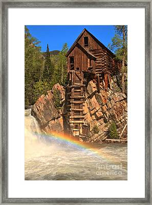 Crystal Mill Rainbow Framed Print by Adam Jewell
