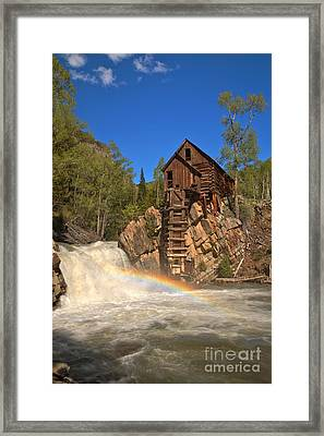 Crystal Mill Rainbow Portrait Framed Print by Adam Jewell