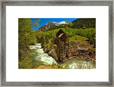 Crystal Mill Summer Landscape Framed Print by Adam Jewell
